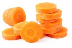 Slice carrot Stock Photo