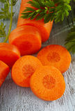 Slice carrot Stock Images