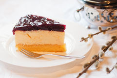 Cheesecake cream mix slice Royalty Free Stock Image