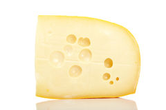 Slice of cheese Stock Photos