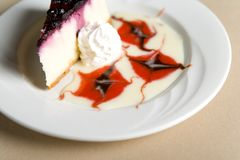 Slice of cheese cake Stock Image