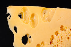 Slice of cheese. Close up highly detalized Royalty Free Stock Photography