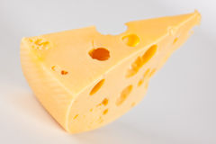 Slice of cheese. Close up highly detalized Royalty Free Stock Photos