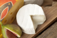 Slice cheese and fig Royalty Free Stock Photography
