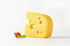 Slice of cheese Stock Photography