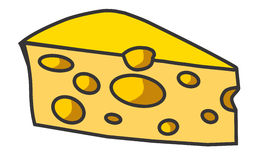 Slice of Cheese Illustration Stock Photo
