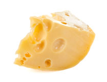 Slice of cheese isolated Royalty Free Stock Photos