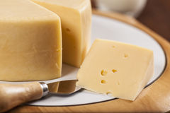 Slice of cheese Stock Image
