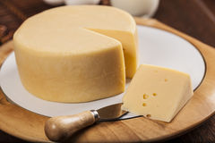 Slice of cheese Stock Photos