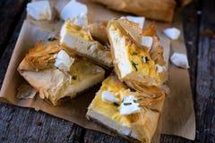 Slice cheese pie Stock Photo