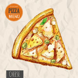 A slice of cheese pizza Royalty Free Stock Photos