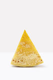Slice of cheese on white Royalty Free Stock Image