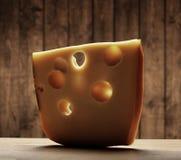 Slice of cheese Stock Image