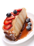 Slice of cheesecake Stock Photography