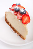 Slice of cheesecake Stock Photos