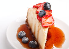 Slice of cheesecake Royalty Free Stock Images