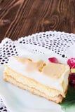 Slice of cheesecake Royalty Free Stock Photos
