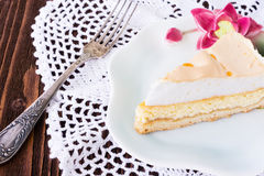 Slice of cheesecake Royalty Free Stock Photography