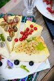 Slice of cheesecake with berries Stock Photo
