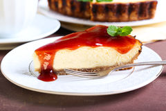 Slice of cheesecake Royalty Free Stock Photo