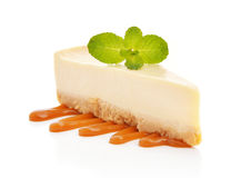 Slice of cheesecake Royalty Free Stock Image