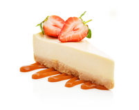 Slice of cheesecake Stock Photo