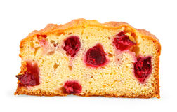 Slice of cherry cake Stock Photography