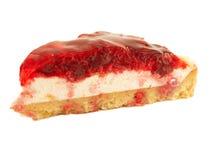 Slice of Cherry flan Cake Royalty Free Stock Photo