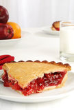 Slice of cherry pie Royalty Free Stock Photography