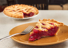 Slice of cherry pie Royalty Free Stock Photo