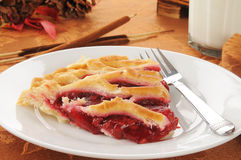 Slice of cherry pie Royalty Free Stock Photos