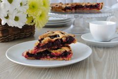 Slice of Cherry Pie Stock Images