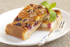 Slice of cherry pie Royalty Free Stock Image