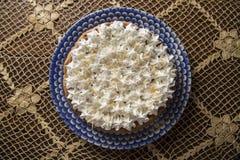 Slice of Chestnut pie Stock Image