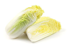Slice of Chinese cabbage. On white background Royalty Free Stock Image
