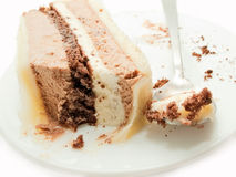 Slice of chocolat mousse cake on plate Stock Image