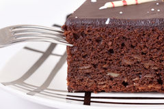 Slice of chocolate cake Royalty Free Stock Photo