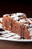 Slice of chocolate cake Royalty Free Stock Image