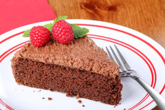 Slice of Chocolate Cake Stock Images