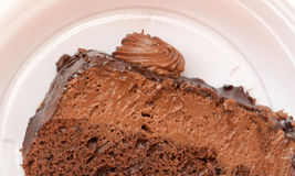 Slice Of Chocolate Cake Stock Photos