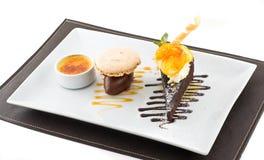 Slice of chocolate cake. Stock Photo