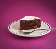 Slice of chocolate cake Royalty Free Stock Photo