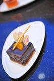 Slice chocolate cake Stock Photography