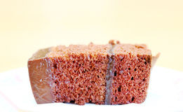 Slice of chocolate cake Stock Photography