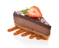 Slice of chocolate cheesecake Royalty Free Stock Image
