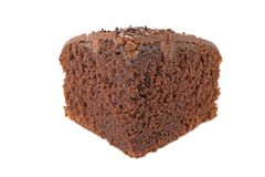 Slice of chocolate fudge cake Royalty Free Stock Photography