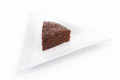 Slice of chocolate fudge cake Stock Photography