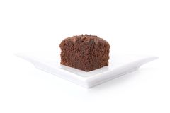 Slice of chocolate fudge cake Royalty Free Stock Photos