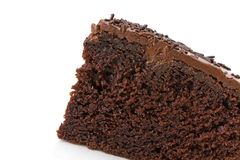 Slice of chocolate fudge cake Royalty Free Stock Photo
