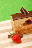 A slice of chocolate mousse cake Royalty Free Stock Photo